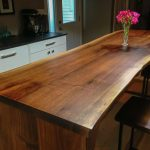 Walnut island table